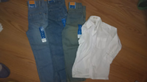 Boys size 5 - 3 pairs of jeans BNWT, 1 dress shirt
