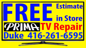 Prima TV repair Plasma HDTV, LCD TV, NO POWER, No Picture