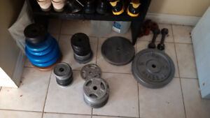 free weight plates and bars