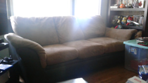 Beige/black Sofa, Very Comfy. Reduced Price to Sell.