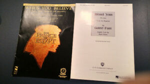 Vocal Scores for sale- When You Believe & Blessed Jesus
