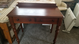 Victorian style writing desk with drawers
