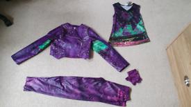 Mal Disney store descendants costume 7-8 yrs girls fancy dress up vgc