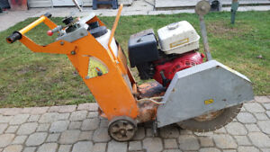 "18""Hond Engine Walk Behind Concrete Saw"