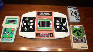 COLECO 70S HANDHELD  ELECTRONIC GAMES -- FOOTBALL, BASEBALL, RA