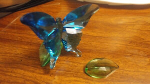 Swarovski Butterfly on Leaves - Figurine - $300+tax RETAIL