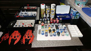 Warhammer 40k Eldar Army with Paints/Brushes