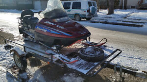 2000 Polaris 550 Sport Touring and Forest River Trailer