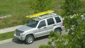 2002 Jeep Liberty SUV, Crossover with ladder rack