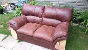 Free - leather couch Great for hunt camp