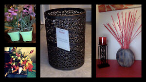 Decor Items- Candle and holders, Artificial plants and flowers Kitchener / Waterloo Kitchener Area image 2