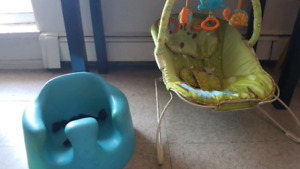 Bumbo chair and vibrating chair
