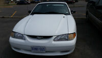 1998 Ford Mustang white Convertible ONLY 14.200KM