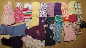 9-12M- 16 Outfits+6 pairs of shoes-Excellent Condition