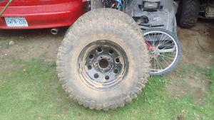 2 mud terrain tires