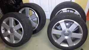 """4 17"""" Audi rims with tires"""