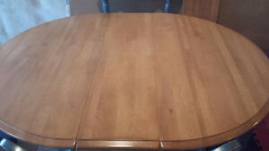 Solid Birch Table Set in Mint Condition St. John's Newfoundland image 5