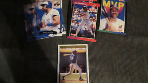 Joe Carter MLB cards(7)