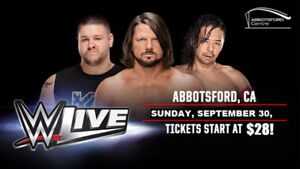 Available 6 Tickets for WWE: LIVE, SEP 30, Abbotsford, BC