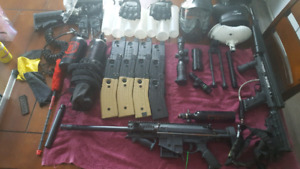M17, Tippman 98 and a bunch of extras.