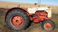 Case tractor and John deer riding mower