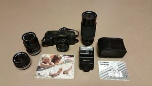 Canon T70 SLR Camera, Lenses & Flash Package