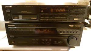 Pioneer receiver/ cd player w/ paradigm speakers