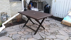 Folding wicker table- new, high quality