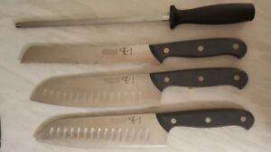 Knives with sharpener