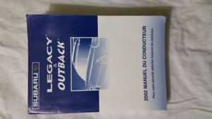 2002 Legacy, Outback  French Manual book.