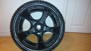 4 tires 225/45R17 NOK HAK 94R XL with17X7 5/100-112R LIZEA rims Regina Regina Area image 1