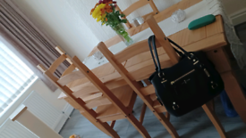 Corona pine table with 4 chairs
