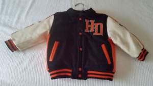 Harley Davidson Motorcycles Youth Faux Leather Jacket Size 4x