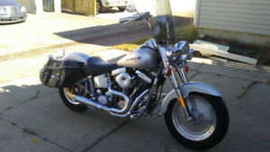 95 HARLEY FLSTF WITH S&S 96 CUBIC INCH