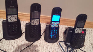 Philips CD445 DECT 6.0 Digital Cordless Phone with 4 Handsets
