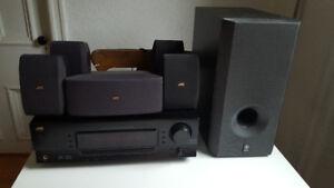JVC Stereo System, Amplifier 5.1 JVC speakers, Yamaha subwoofer