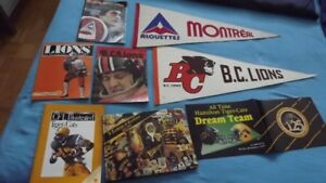 3 BC LIONS CFL ITEMS PACKAGE DEAL:VINTAGE PENNANT +2 PROGRAMS