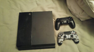 PS4 with 2 wireless remotes