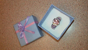 sterling silver ring size 8 - pink opal