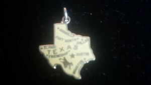Texas map Sterling Silver charm