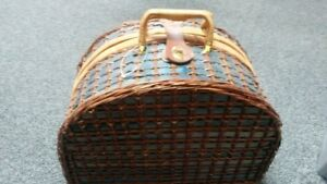 Deluxe Picnic Basket- loaded with goodies- never used