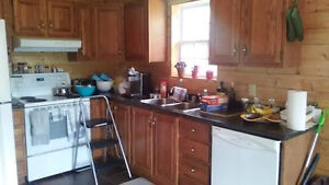 Kitchen cabinets, counter top & appliances