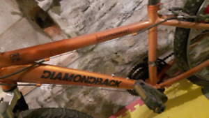 Orange Diamondback copperhead mountain bike