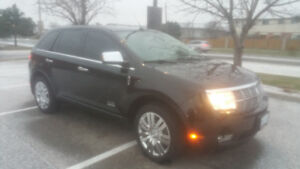 Black on Black Leather and tan Lincoln 2009 Lincoln MKX for sale