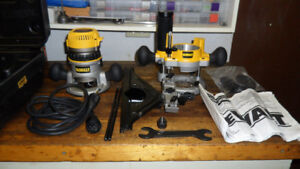 "DEWALT 2 1/4 HP EVS 2 - BASE 1/2"" ROUTER KIT WITH EDGE GUIDE"