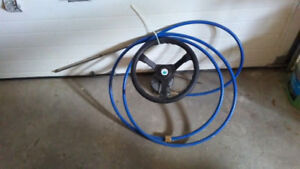 Boat Steering Wheel with 15' cable