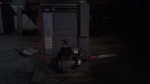 Used oil furnace and tank