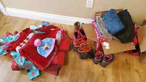 Lots of girl clothing and boots!