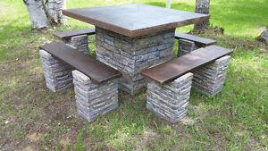 picnic table fibre cement Kawartha Lakes Peterborough Area image 2