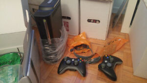 Xbox 360 Elite 120GB - with Original Packaging and 2 Controllers